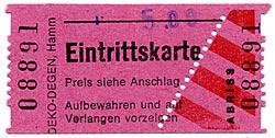 Eintrittskarte Eisenbahnmuseum Bochum