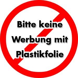 Anti Plastikwerbung