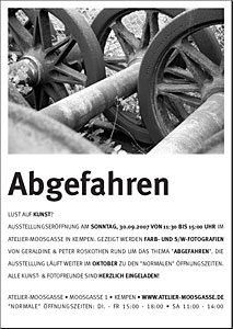 ABGEFAHREN – Fotoausstellung im Atelier-Moosgasse
