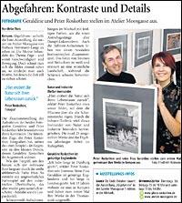 Bericht WZ zur Fotoausstellung im Atelier-Moosgasse