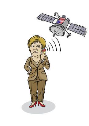 Das Handy von Frau Merkel